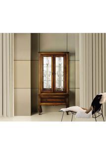 Cristaleira Hermes Baixa - 2 Portas E 1 Gaveta -Tommy Design