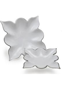 Centro De Mesa Cerâmica 2 Peças - Unissex