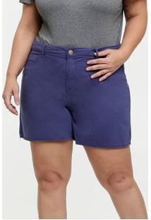 Bermuda Feminina Sarja Plus Size Marisa