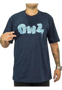Camiseta Owl Bomb Azul Marinho