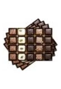 Jogo Americano - Chocolate Com 4 Peças - 413Jo