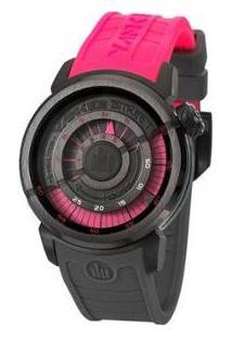Relógio Yankee Street Feminino - Feminino-Rosa+Preto