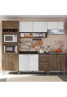 Cozinha Compacta 9 Portas Isadora 0424T Demolição/Gelo 3D - Genialflex