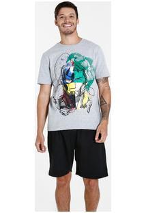 Pijama Masculino Estampa Os Vingadores Marvel