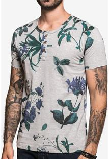 Camiseta Henley Mescla Flower 103107