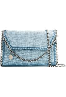 Stella Mccartney Bolsa Transversal Falabella Metálica - Azul