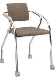 Cadeira 1713 Caixa Com 1 Tecido Camurã§A Mã³Veis Carraro Bege - Bege - Dafiti