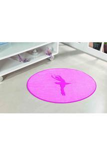 Tapete Antiderrapante Formato Bailarina Rosa 0,78 X 0,68 Cm