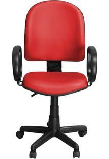 Cadeira Excellence Vermelha Giratória Com Regulagem E Braço De Apoio - Pethiflex