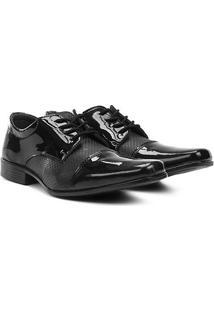 Sapato Social Walkabout Bico Quadrado - Masculino-Preto