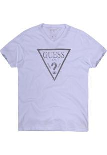 Camiseta Khelf Triângulo Guess Branco