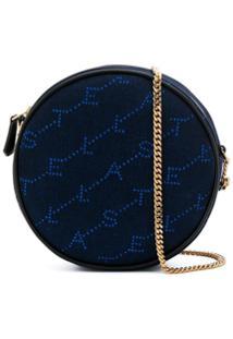 Stella Mccartney Bolsa Redonda Transversal Monogramada - Azul