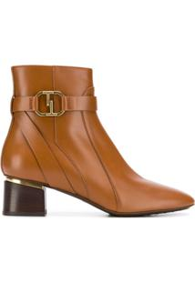Tod'S Ankle Boot De Couro - Marrom