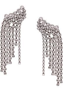 Isabel Marant A Wild Shore Crystal Embellished Cascade Earrings - Branco