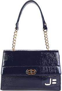 Bolsa Couro Jorge Bischoff Handbag Feminina - Feminino-Marinho