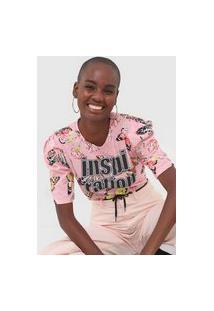 Camiseta Coca-Cola Jeans Inspiration Rosa