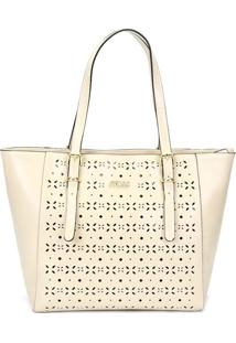 Bolsa Shopping Bag Queens Bege