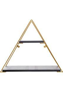 Prateleira Geomã©Trica Triangular- Preta & Dourada- 4Metaltru