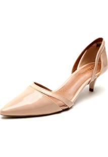 Scarpin Dafiti Shoes Salto Cone Nude