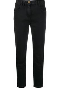 Balmain Calça Jeans Slim - Preto