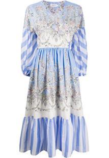 Liberty London Octavie Hilary Wrap Dress - Azul