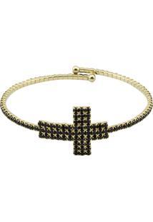 Bracelete Tudo Jóias Folheado Dourado