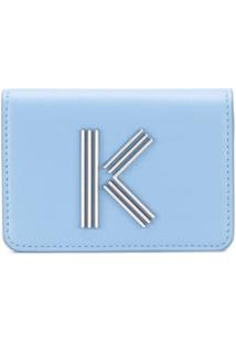 Kenzo Carteira Com Logo - Azul