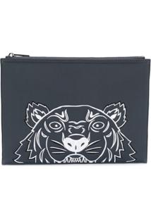 Kenzo Signature Tiger Clutch Bag - Azul