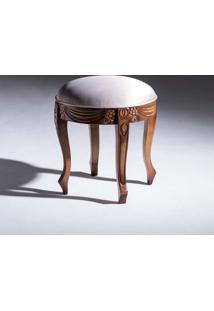 Puff Premier Madeira Maciça Design Clássico Avi Móveis