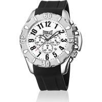 6a75865ada5 Relógio De Pulso Everlast Cx Aço Pulseira Silicone Analógico - Masculino- Preto+Branco