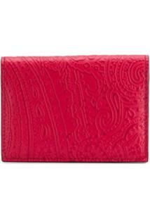 Etro Carteira Com Textura Paisley - Vermelho