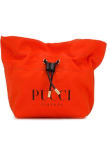 Emilio Pucci Necessaire Com Logo E Amarração - Laranja