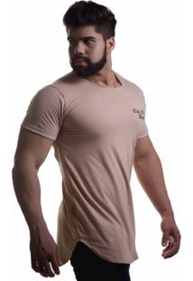 Camiseta Top Fit Casual Caramelo