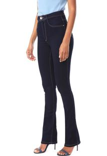 Calça Jeans Lança Perfume Bootcut Shape Now Azul-Marinho