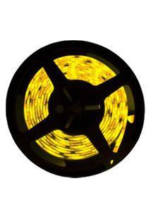 Fita Led Taschibra 2.5W 5M Bivolt Com Fonte Alimentação Amarela