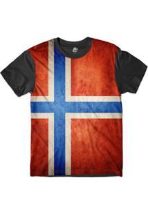 Camiseta Bsc Bandeira Noruega Sublimada - Masculino