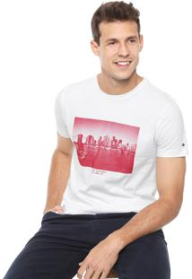 Camiseta Tommy Hilfiger Skyline Photo Branca