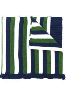 Sonia Rykiel Cachecol Listrado De Lã - Verde