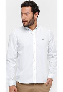 Camisa Social Lacoste Regular Fit Lisa Masculina - Masculino