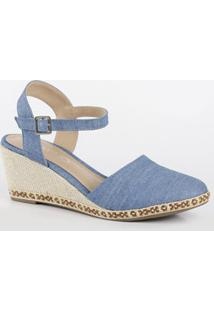 Sandália Feminina Espadrille Jeans Via Uno 130033Sbnvv