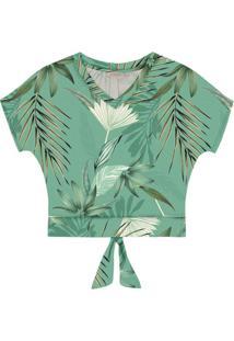 Blusa Feminina Estampada Verde