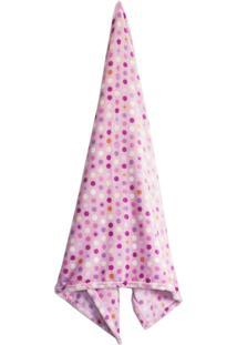 Cobertor Infantil Baby Camesa Flannel 90X110Cm Bolinhas Rosa