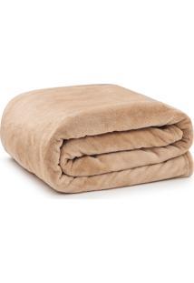 Cobertor Solteiro Microfibra - Loani - Bege