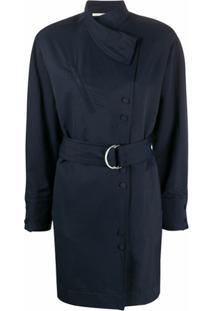 Stella Mccartney Vestido Envelope Com Cinto - Azul