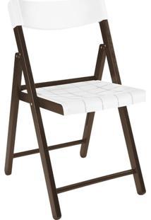 Cadeira Potenza Tabaco Com Branco