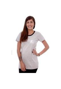 Camiseta Starter Estampada Pocket Cinza
