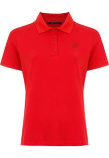 Armani Exchange Camisa Polo Com Bordado - Vermelho