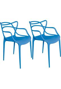 Kit 02 Cadeiras Facthus Amsterdam Azul