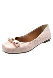 Sapatilha Romântica Calçados Laço Strass Rosa