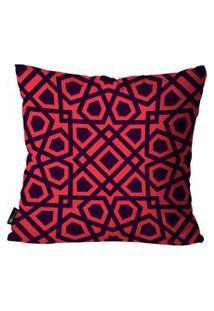 Capa Para Almofada Mdecore Abstrato Vermelho 55X55